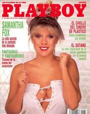 PLAYBOY 136 SAMANTHA FOX 6 pages nude pictorial !!! JOAN SEVERANCE 8p photo set