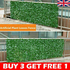UK Artificial Faux Ivy Leaf Hedge Panels Roll Privacy Screening Garden Fence Dec