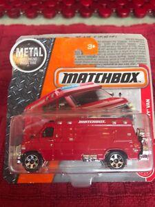Matchbox - 2017 - #87 '95 Custom Chevy Van - Red - Bike on Rear Doors
