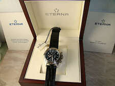 Eterna Airforce Swiss Made Mens Automatic Chronograph Pilot Watch $4995 NEW RARE