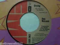 "VINYL 7"" SINGLE - CRYING - DON MCLEAN -  EMI5051"