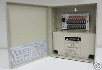 9 Port 8CH Security CCTV Camera Power Supply Distribution Box DC 12V