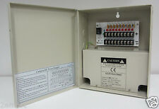 CCTV Power Supply Box 9 Port 5A Power Box 12V DC Fuse Protection