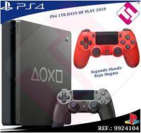 DAYS OF PLAY PS4 1TB 2019 PLAYSTATION 4 + MANDO DUALSHOCK  ROJO NEGRO 100% SONY