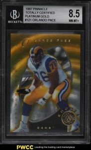 1997 Pinnacle Totally Certified Platinum Gold Orlando Pace ROOKIE RC /30 BGS 8.5
