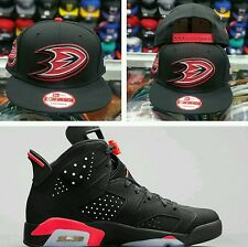 Matching New Era Anaheim Ducks 9Fifty snapback for Jordan 6 Black infrared