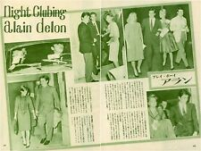 ALAIN DELON ROMY SCHNIER 1961 Vintage Japan Picture Clippings 2-Pages #EB/Z
