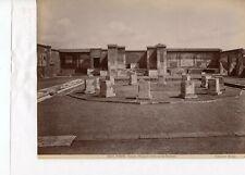 Albumen Italy 5027 temple of Augustus or Panteon Pompei Edizioni Brogi