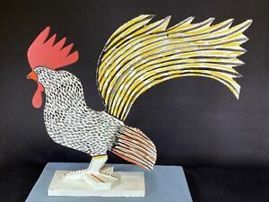 Marvin Finn Wood Rooster Black American Urban Folk Art Louisville Kentucky