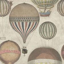 Vintage Designer MTG Hot Air Balloon Wall paper Rolls Feature Wallpaper Bedroom