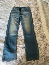 Levi's Signature Sz 12 REGULAR Boys DRAWSTRING ELASTIC WAIST Light STRETCH Jeans