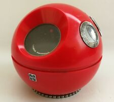 Vintage Retro Space Age National Panasonic Red Round Panapet R-70 MW Radio Japan