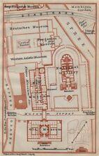 Museuminsel island berlin. appelée alte nationalgalerie pergamon neues. plan carte de 1923