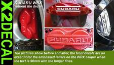 Brake caliper sticker decal cut letters to fit Subaru Impreza WRX rally front X2