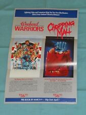 vintage LIGHTNING VIDEO ADVERTISING BROCHURE Chopping Mall Weekend Warriors