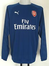ARSENAL 2017/18 LIMOGES BLUE TRAINING SWEAT BY PUMA SIZE MEN'S LARGE BRAND NEW