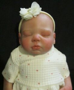 reborn doll with painted hair 18 inches Zoe