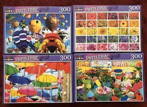 """4 Cra-Z-Art Puzzlebug 300 Piece Jigsaw Puzzles 18.25"""" x 11"""" Brand New Lot G"""