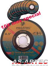 x pegatec Disque de tronçonnage doré Inox Spécial 10-pc 115x 1,0MM