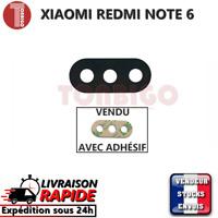 Vitre arrière caméra XIAOMI REDMI NOTE 6  Lentille appareil photo Lens verre