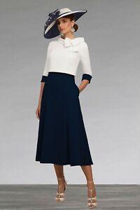 Ronald Joyce Veni Infantino Mid Length Dress With Matching Jacket Size 12