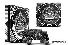 Skin Decal Wrap For PS4 Slim Playstation 4 SLIM Console + Controller Stickers CY