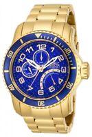 Invicta Men's Watch Pro Diver Quartz Dive Blue and Gold Tone Dial Bracelet 15342