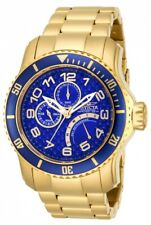 Invicta Men's Watch Pro Diver Quartz Dive Blue and Gold Tone Dial Bracelet 15342