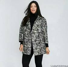 LANE BRYANT ~ NWT NEW! 14 16 18 20 22 24 26 28 ~ Metallic Silver Jacquard Jacket