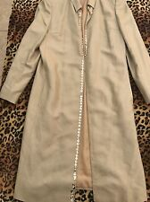 New Valentino Woman Silk Coat Beige 8 Made In Italy $1350