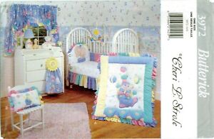 Butterick 3972 358 Baby Infant Nursery Circus Room Crib Quilt pattern UNCUT FF