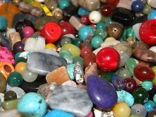 New 6/oz Gemstone, Semi-precious, Agate lot Mixture of beads 8-20mm size