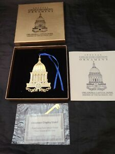 2002 Special Collector's Edition Oklahoma Capitol Dome Christmas Ornament W/Box