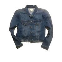Maison Jules Puff Sleeve Denim Jacket Navy Size Large
