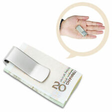1X Men Silver Aluminum Mini Credit Card Coin Holder Multifunction Money Clip