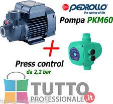 KIT pompa autoclave pedrollo PKM60 + press control 2,2 bar cisterna pozzo giard
