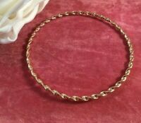 Vintage Jewellery Yellow Gold Twist Bangle Antique Deco Dress Jewelry