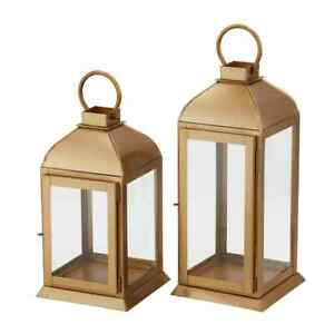 Home Decorators Collection Candle Lantern Hinged Door Glass-Panels (2-Piece)