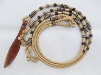 New Hand Braided Natural Rawhide Show Romel Romal Reins Horsetack Brown RRN117