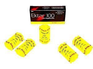 5 x Rolls KODAK EKTAR PRO 100 COLOR NEG--120 MED. FORMAT--FRESH--expiry: 09/2021