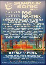 SUMMER SONIC 2017 JAPAN FESTIVAL ORIGINAL CHIRASHI MINI POSTER FOO FIGHTERS