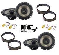 IMPACT Kit 4 casse per FIAT IDEA 2005> con ADATTATORI E SUPPORTI ANT/POST