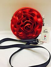 New DISNEY BEAUTY & The BEAST HARVEYS SEATBELT ROSE Mini Circle Crossbody Bag