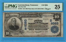 Lawrenceburg Tennessee $10 1902 PB First National Bank CH6093 PMG Very Fine 25