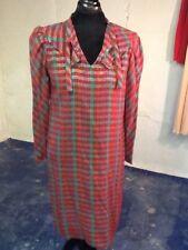 Vintage Italian Designer Red Plaid with Lurex Dress by mimmina 10