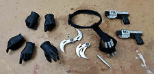 1/6 Blade II Accessory Set GLOVED Hands Handguns Pistol Glaives Holster Hot Toys