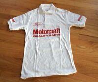 Men's Vintage Retro Polo Shirt Motorcraft FORD Racing NWOT SM & MED