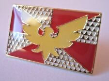 LGBT Feather Drag Pride Rectangular Flag Enamel Pin Badge