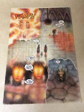 Chaos Quarterly #2 original art BAD GIRL sexy Demonica Diabolica 1995 BLOOD BATH