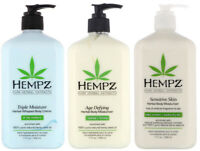 Hempz AGE DEFYING SENSITIVE SKIN TRIPLE MOISTURE LOTION 17 oz - 3PACK